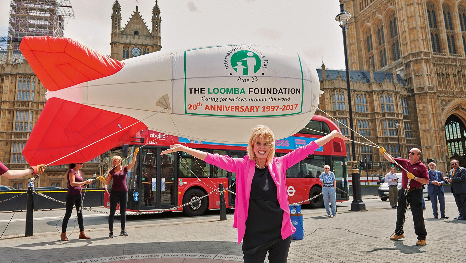 Joanna Lumley promotes International Widows Day