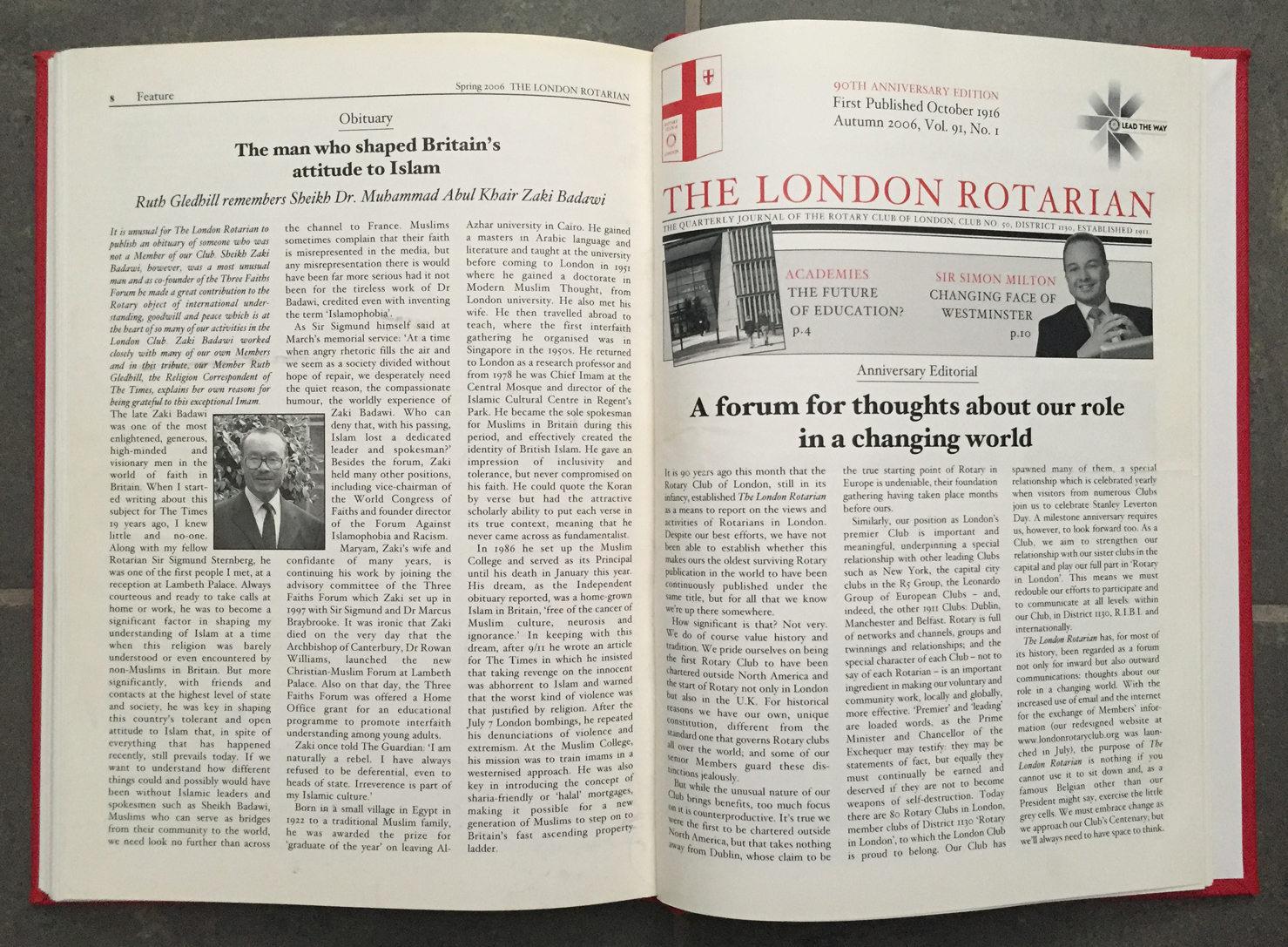 The London Rotarian bound volume